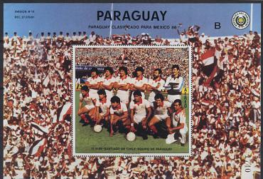 "Paraguay, World Cup 1986, s/s, national team ""B"""