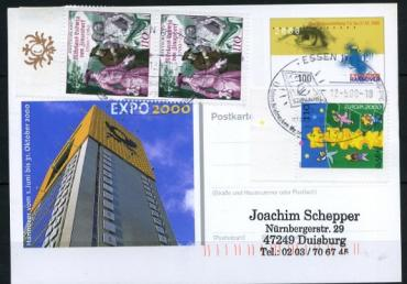 West Germany, Europe-CEPT 2000, real mailed card