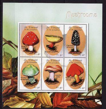 Saint Vincent and the Grenadines, 2001, Mushrooms, m\s