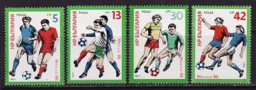 Bulgaria, World Cup 1986, 1985, 4v