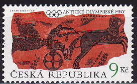 Czech Republic, 2000, Ancient Olympic Games, the Chariot, 1v