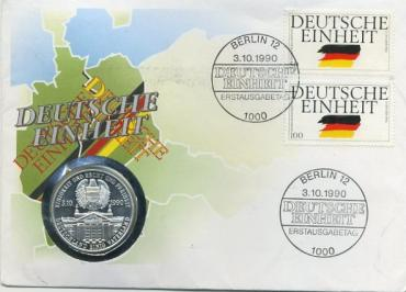 Germany, Union BRD & GDR, 1990, medal + FDC