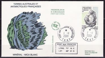TAAF 2001, introduction of the euro, Minerals, envelope