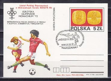 Poland, WC 1986, Olympic Games-72,  card