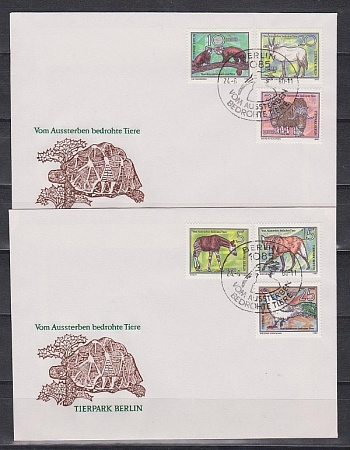 DDR, Zoo, 1980, FDC