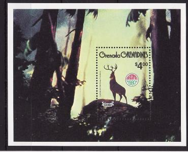 "Grenada Grenadines, 1980, Christmas, Cartoons, ""Bambi"", s\s"