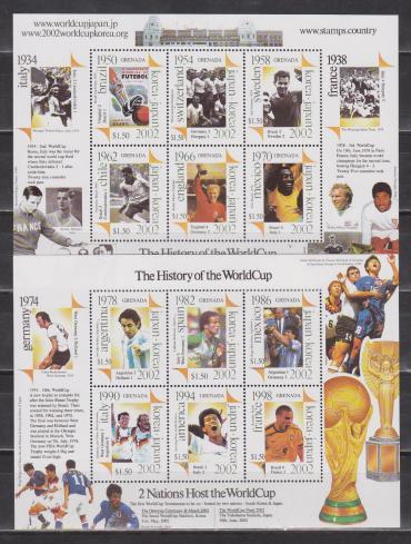 Grenada, History of World Cup , 2 sheetlets