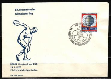 GDR, 1977, the International Olympic Day, envelope