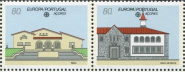 Azores, Europa, 1990, 2 v from s/s